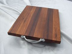 solid wood teak chef chopping board by ExoticWoodAtrs on Etsy, $40.00
