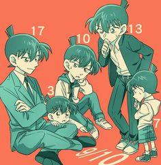 Cada forma de Shinichi con tal edad