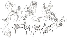dessin croquis mains