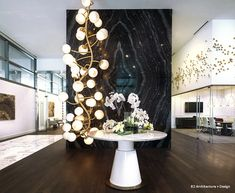 Wall Play™ — Gold Leaf Design Group Gold Leaf Design Group, Focal Wall, Hospitality Design, Chandelier, Ceiling Lights, Candles, Shapes, Wall Art, Inspiration