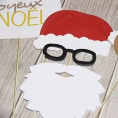 Accessoires photos type photobooth Père Noël