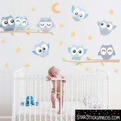 Búhos Suaves niño - Vinilos infantiles