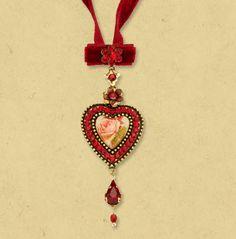 Michal Negrin ~ Velvet Choker Necklace 10649