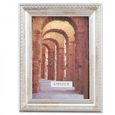 Lawrence Frames Picture Frame with Rope and Bead Border in Antique Silver - 27146 / 27157 / 27180