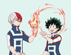 Izuku and Todoroki
