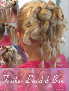 Feather Braided Bun #Hairstyle
