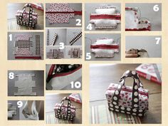 DIY Fabric Mini Tote | www.FabArtDIY.com LIKE Us on Facebook ==> https://www.facebook.com/FabArtDIY