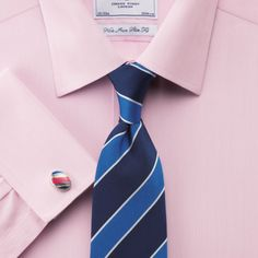 aa47181cbf32 Pink hairline non-iron slim fit shirt