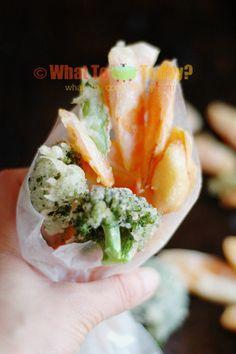 Vegetable tempura. Suitable for vegan too.