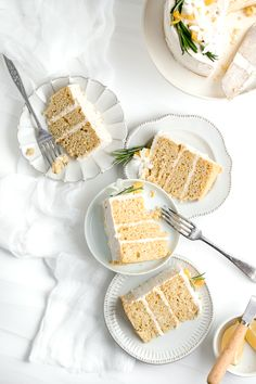 This rich, moist, and delicious healthy lemon olive oil cake is topped with luscious coconut whipped cream frosting. Made gluten free and dairy free! Gluten Free Cakes, Gluten Free Baking, Gluten Free Desserts, Citron Cake, Lemon Poppy Seed Scones, Lemon Olive Oil Cake, Lemon Oil, Baking Recipes, Dessert Recipes