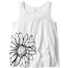 Girls' Flower Print Singlet White ($4.47) ❤ liked on Polyvore featuring tops, kids clothes, baby, children and girls