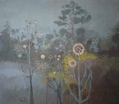 Ruth Stage, 'Japanese Garden in Moonlight', egg tempera, 20x23 inches