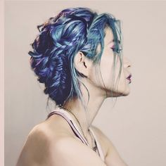 Incredible hair color using MANIC PANIC® hair dye. Hair by anthologyhair. Turquoise, blue and purple and twisted braids My Hairstyle, Pretty Hairstyles, Dye My Hair, Your Hair, Manic Panic Hair Dye, Color Fantasia, Coloured Hair, Mermaid Hair, Crazy Hair