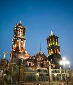 La catedral de Puebla, Mexico