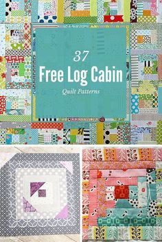 37 Free Log Cabin Quilt Patterns | We can't get enough of the log cabin quilt!: