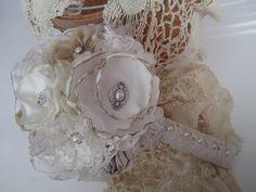 Fairytale wedding fabric bouquet brooch bouquet by darlyndax