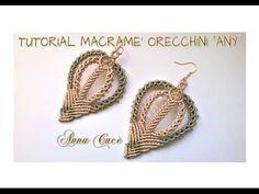"Tutorial macramè orecchini ""Rosy""/Tutorial macramé earrings ""Rosy""/Diy tutorial - YouTube"