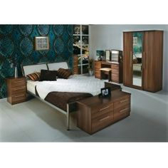 Betta Living Continental Walnut  Bedroom freestanding furniture