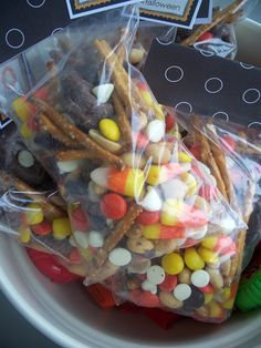 Halloween Trail Mix for Class Party