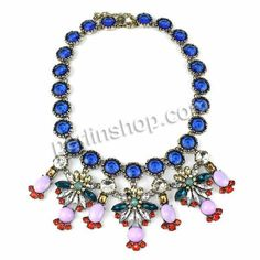 Zinklegierung Schmuck Halskette, mit Kristall & Harz, mit Verlängerungskettchen von 1.5Inch, goldfarben plattiert, mit Strass, frei von Nick...