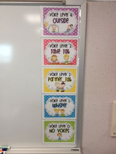Cute idea to help control the noise level in your classroom. It's nice and colorful so its easy for the younger children to understand and follow!