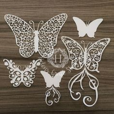 Butterflies SVG cutting file and butterfly DXF cut file / Swirl SVG butterfly cutting files for silhouette studio and cricut cut by HelensCraftStudio on Etsy