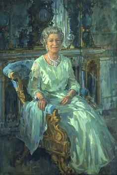 Susan Ryder RP NEAC (b.1944) —  The Queen, 1996 (1072×1600)