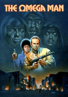 The Omega Man (1971) Armed with an experimental vaccine for the disease that's turned everyone into light-averse zombies, Robert Neville, one of the last intact survivors of a biological war, roams the empty streets by day and fights off the mutated subnormals at night.  Charlton Heston, Anthony Zerbe, Rosalind Cash...TS sci-fi