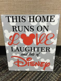 This House Runs on Disney -Disney Sign - Disney Wall Sign - Disney Wall Art by SignStockpile on Etsy https://www.etsy.com/listing/268577659/this-house-runs-on-disney-disney-sign