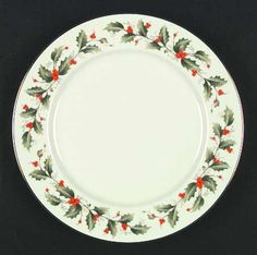 Royal Gallery China Holly Dinner Plate 622850 for sale online Christmas China, Christmas Time, Xmas, Holiday, Antique Dishes, Crochet Square Patterns, Christmas Printables, Vintage China, Dinner Plates