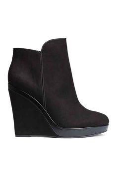 Vysoké boty na klínu - Černá - ŽENY  09a0614fea