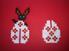3D Easter bunny egg hama perler by les-anges-geek