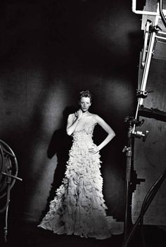 Milagros Schmoll in Giorgio Armani Prime, shot by Peter Lindbergh for Vogue Italia, September 2013