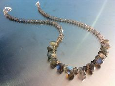 Sparkling Labradorite Necklace by GemsRevisited on Etsy, $135.00 Stone Chips, Handmade Necklaces, Labradorite, Sparkle, Beads, Gemstones, Sterling Silver, Etsy, Jewelry