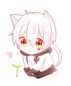 ideas for baby pics boy girls Neko Boy, Chibi Boy, Cute Anime Chibi, Cute Anime Pics, Kawaii Chibi, Cute Anime Boy, Kawaii Anime Girl, Anime Guys, Kawaii Art