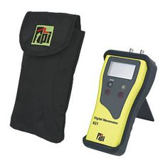 TPI 621 Dual Input Manometer 25968 Dual input, differential digital manometer. Protective tilt stand and rubber boot. Ideal for tightness, let-by, standing and burner pressure tests. http://www.MightGet.com/april-2017-1/tpi-621-dual-input-manometer-25968.asp