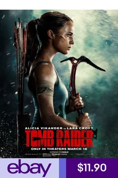Based on the 2013 re-boot of the Tomb Raider video game series, see Oscar winner Alicia Vikander take to the big screen as the titular heroine before she became known as Lara Croft - Tomb Raider. Tomb Raider Full Movie, Tomb Raider Film, Tomb Raider 2018, Tomb Raider Lara Croft, 2018 Movies, Hd Movies, Movies To Watch, Movies Online, Movie Tv