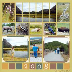 Love the panoramic look on the top of the page - beautiful! This is a great idea for places like Yellowstone where there is a lot of scenery.