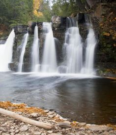 Dozens of waterfalls dot Michigan's Upper Peninsula, offering scenic rewards for hikers and walkers – especially in autumn.