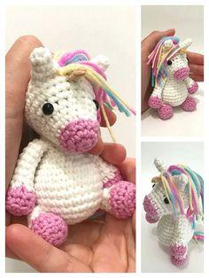 Crochet Unicorn Pattern Free, Free Pattern, Crochet Patterns, Crochet Animals, Crochet Toys, Knit Crochet, Step By Step Crochet, Cute Unicorn, Learn To Crochet