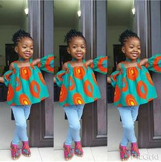 Ankara Styles For Kids; Little Girls And Baby Girls Ankara Styles Ankara Styles For Kids, African Dresses For Kids, African Babies, Ankara Gown Styles, African Children, Ankara Gowns, Fashion Kids, Fashion Models, Fashion Hair