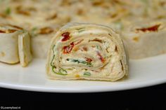 17 ideas for brunch recepten koud Vegetarian Wraps, Vegetarian Recepies, Tapas, Lunch Wraps, Healthy Brunch, Reception Food, Party Dishes, Happy Foods, Finger Food