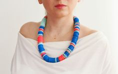 African clothing/Trending necklace/Neon necklace/electric by IKKX