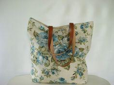 Floral Print Linen Tote Bag | Studio Tac