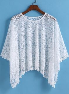 Lace Hollow Loose Top