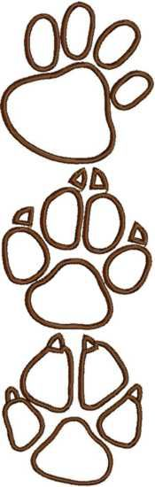 Advanced Embroidery Designs - Animal Paw Applique Set