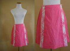 1960's Playful Pink Pin Up Skort   Medium  by LittleGhostVintage