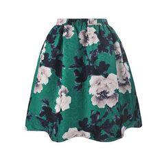 2017 Spring Summer Vintage Printing Midi Skirts Womens High Waist Floral Puff Skirts Saia Fashion Ladies mini Tutu Skirt Faldas