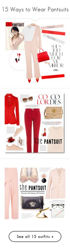 """""""15 Ways to Wear Pantsuits"""" by polyvore-editorial ❤ liked on Polyvore featuring waystowear, thepantsuit, STELLA McCARTNEY, Voi Jeans, Totême, Gianvito Rossi, Rika, Linda Farrow, Fendi and Gucci"""