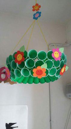 Ukras class decoration, school decorations, classroom displays, classroom d Recycled Crafts, Diy And Crafts, Crafts For Kids, Arts And Crafts, Paper Crafts, Class Decoration, School Decorations, Spring Art, Spring Crafts
